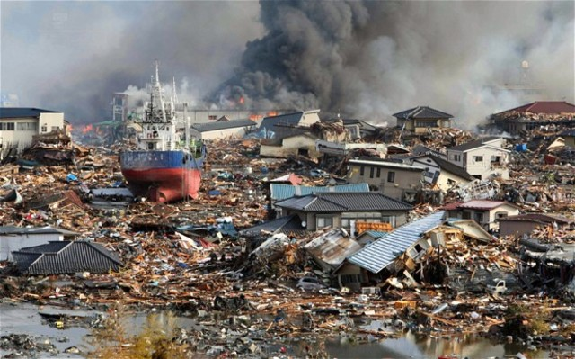 Tsunami ravages Japanese coast