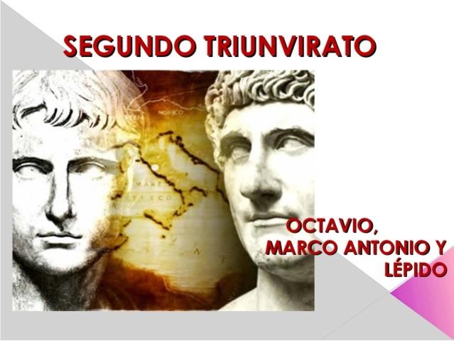 segundo triunvirato año: 43 a.c.