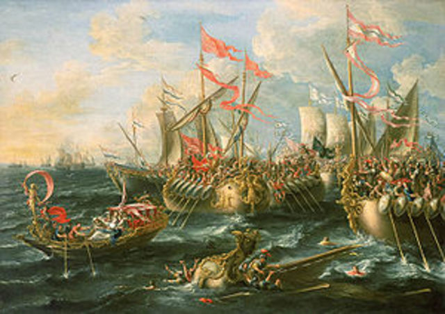 Derrota de Marco Antonio y Cleopatra año: 31 a.c.