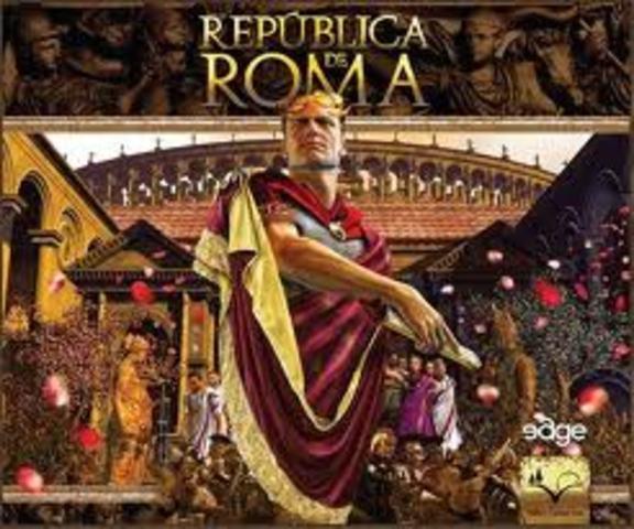 Fin de la República y comienzo de la primera fase del Imperio (PRINCIPADO O DIARQUIA). año: 27 a.c.