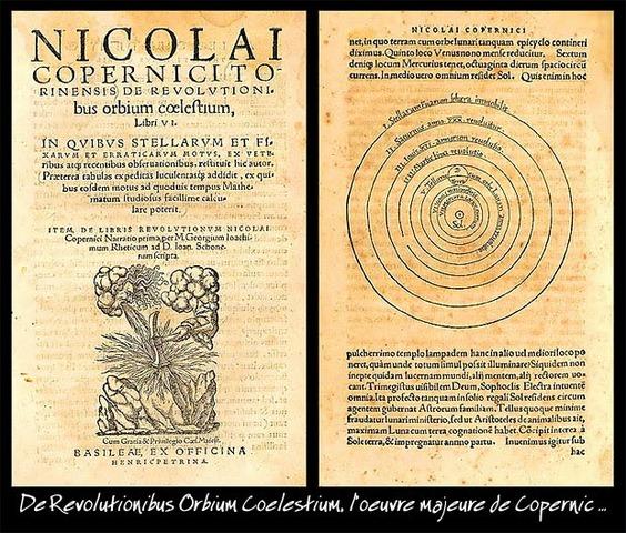 "Se publica ""De revolutionibus orbium coelestium"", de Nicolás Copérnico"