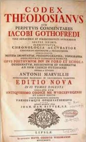 429 d.C Código Teodosiano