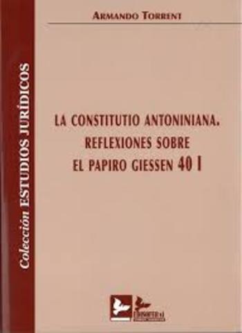 Constitución Antoniniana año: 212 d.c.