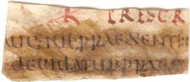Código Gregoriano año: 295 d.c.