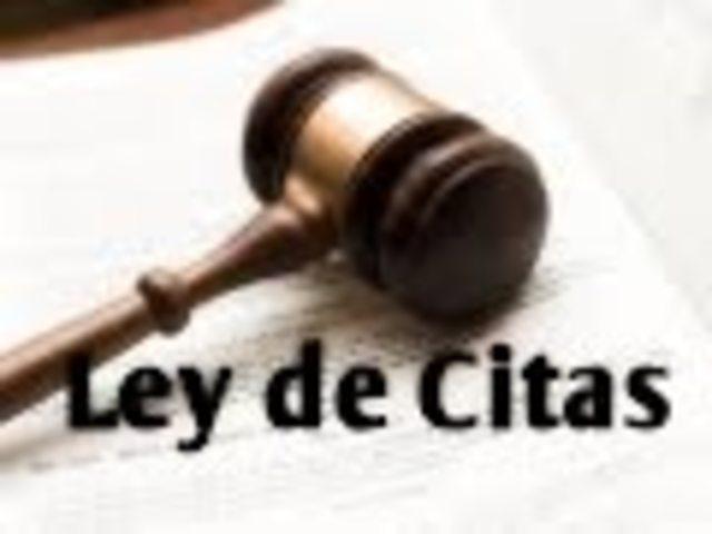 Ley de Citas, compilación de jurisprudencias. año: 426 d.c.