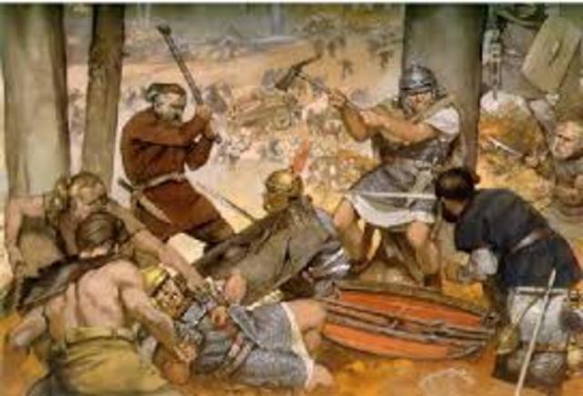 caida del imperio romano de occidente. año: 476 d.c.