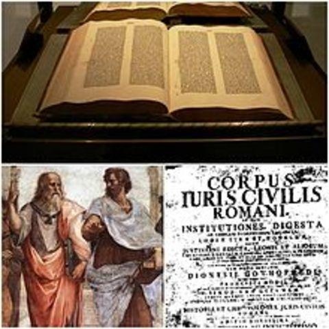 se inicia la compilación justinianea bajo la dirección de Triboniano. año: 528 d.c.