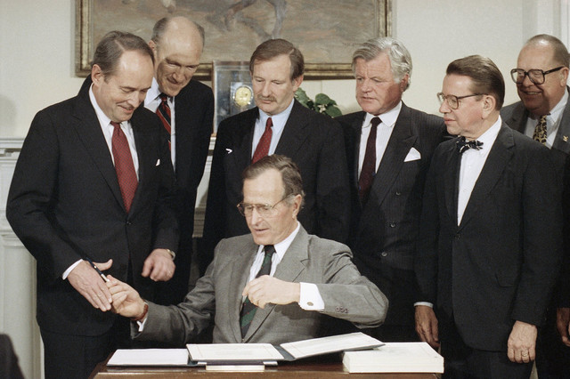 George H.W. Bush Signs Individuals With Disabilities Act