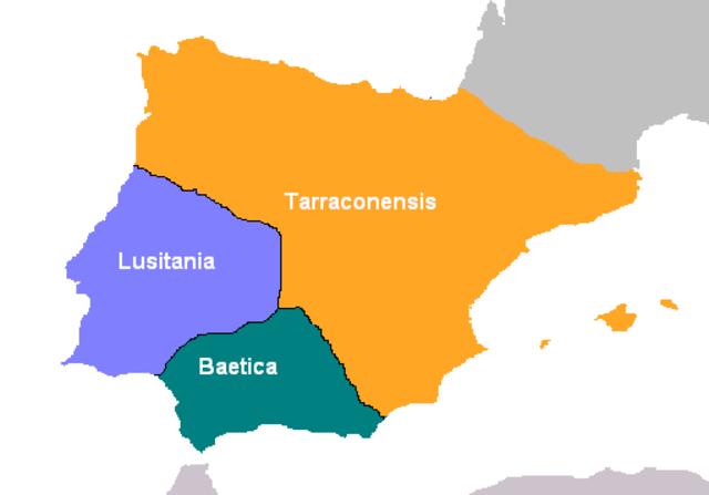 Hispania pasa a dominio romano en 17 a. C.