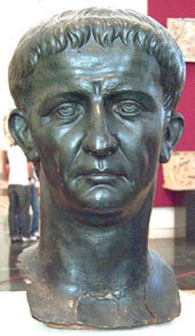 Claudio fue proclamado Emperador en 41 a.c.