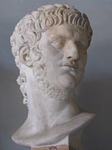 Sube al trono Neron en 54 d.C.
