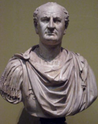 Vespesiano es declarado emperador en 69 d.C.