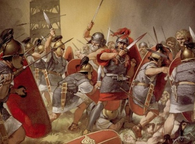 La caída del imperio romano.