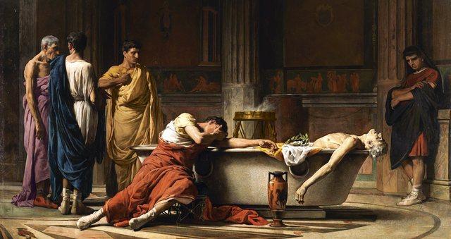 Nerón se suicida en 68 d.C.