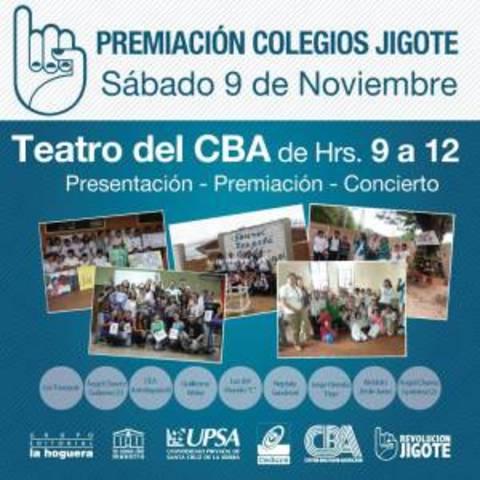 """Premiación del Primer Concurso de Educación Ciudadana """"Colegios Jigote"""""""