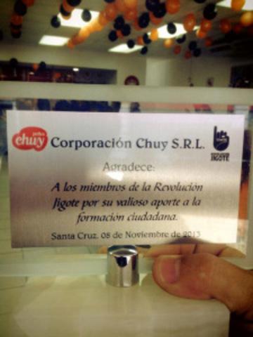 ¡La Revolución Jigote recibe reconocimiento de Corporación Chuy!