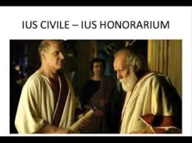 510 a.C Aparece el Derecho Honorario