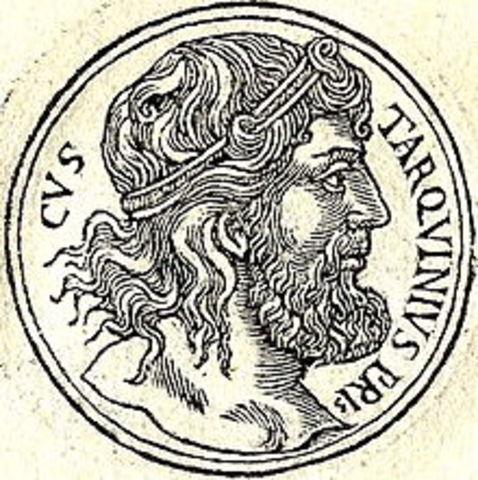 Inicia reynado de Tarquino Prisco (616 a.C - 578 a.C)