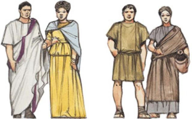 Sociedad Romana dividida en dos clases