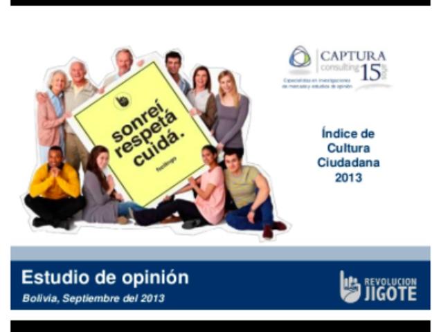 Encuesta Cultura Ciudadana 2013