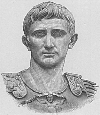Primer emperador romano Octavio Augusto (27 a.C. - 14 d.C.)