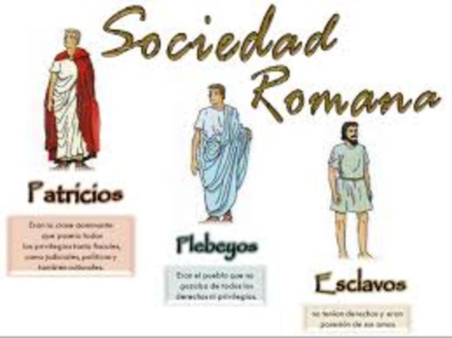 año 509 a.C. los patricios y los plebeyos.