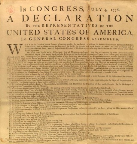 Declaration of massachusets