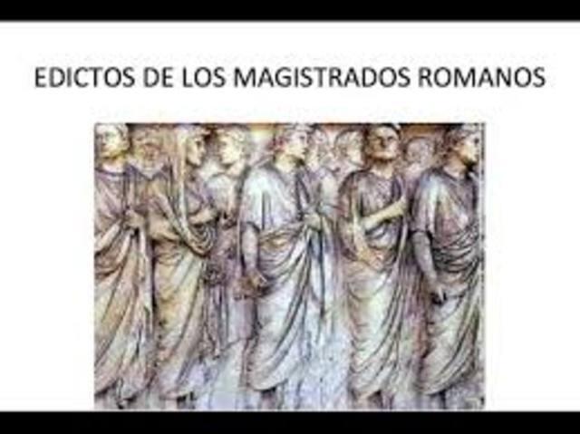 siglo IV a.C Los edictos de los magistrados