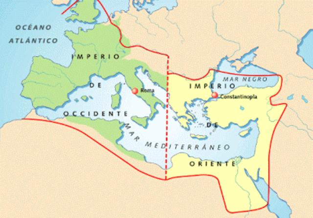 395 BIPARTICION DEL IMPERIO ROMANO