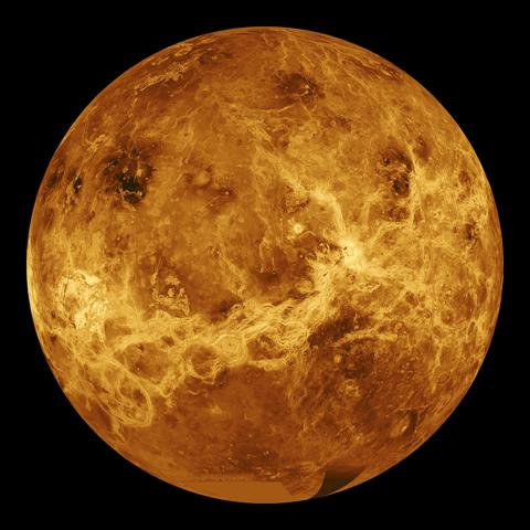 The spacecraft passes Venus for the first time.
