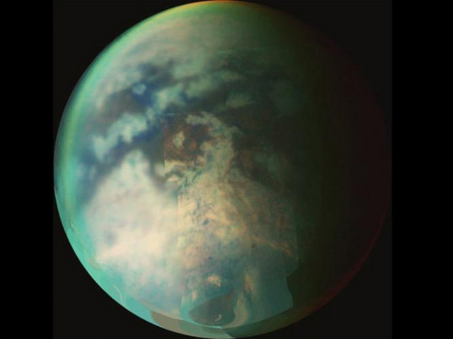 The Huygens probe is released on to Titan.