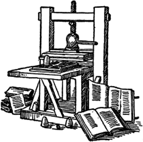 Printing press helped spread word of new discoveries