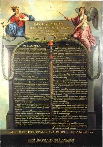 La declaración de los Derechos del Hombrey del Ciudadano