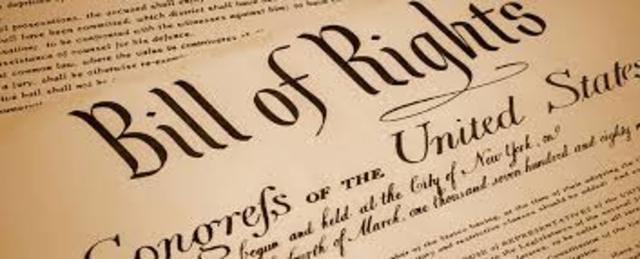 En la Declaración de Derechos (Bill of Rights)
