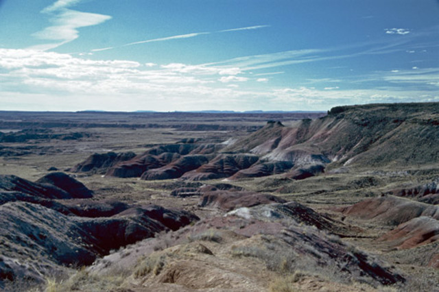 Painted Desert and Blue Mesa