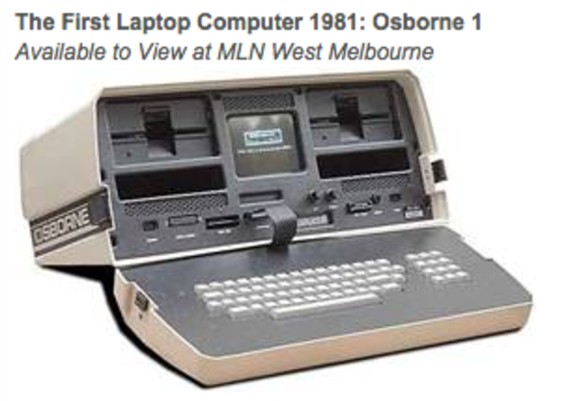 First laptop invented