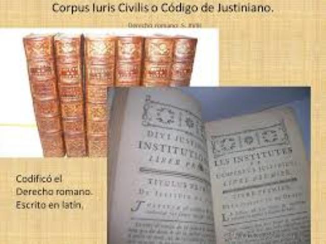 Codex Justinianus, o Código de Justiniano.