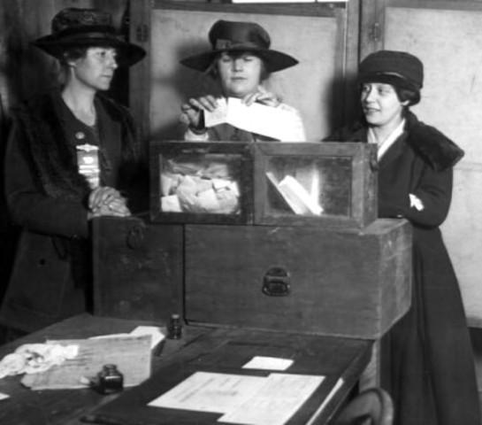 Women Recieve Right To Vote