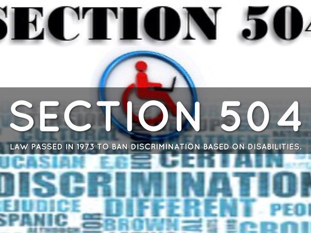 Rehabilitation Act of 1973-Section 504