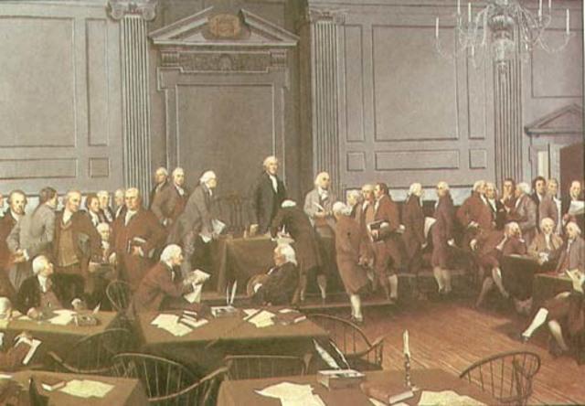 Consiguientes estados en ratificar la Constitución