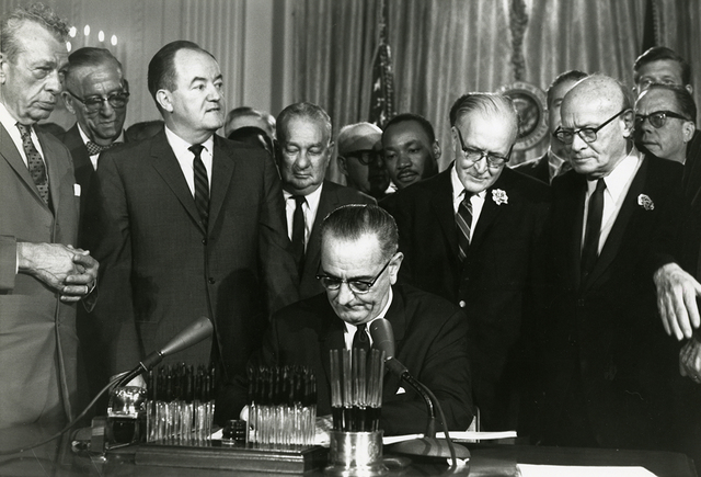 Civil Rights Act of 1964 signed into law