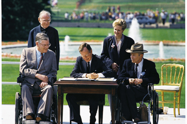 The Americans with Disabilities Act (ADA) is passed into law