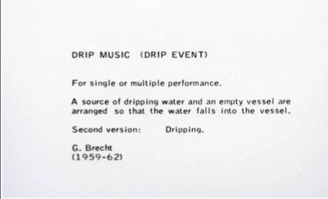 "George Brecht performs ""Drip Music"""