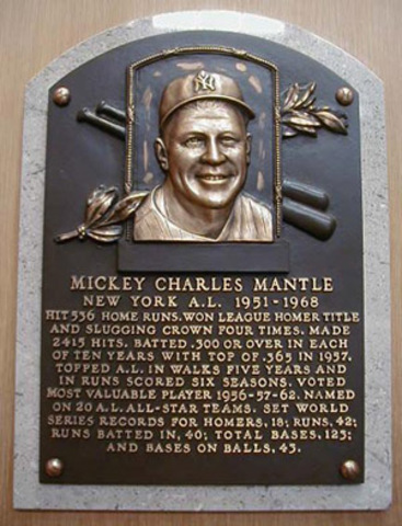 he was inducted into the baseball hall of fame