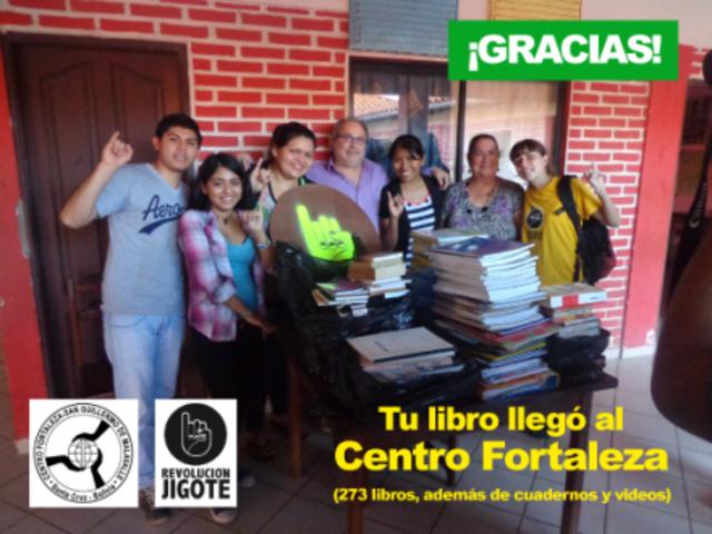 Libros para la biblioteca del Centro Fortaleza