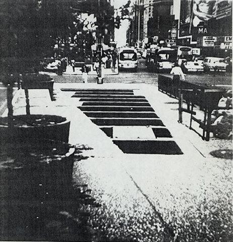 """Max Neuhaus installs """"Time Square"""""""