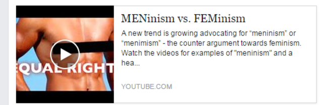 MENinism vs. FEMinism youtube video