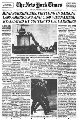 Vietnam War Offical Ends