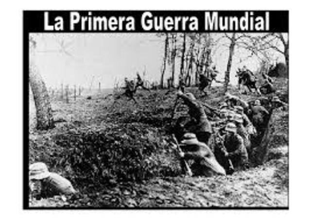 Inicia la primera guerra mundial
