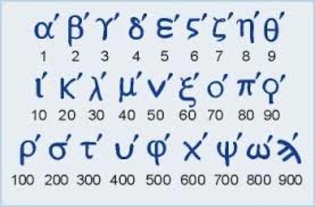 300 a. C SISTEMA NUMÉRICO JÓNICO